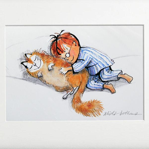 Alida Bothma Boy and his Cat frame 2