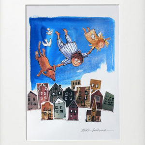 Alida Bothma Boy flying with dog frame 2