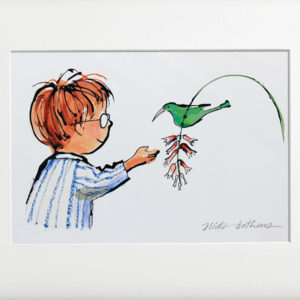 Alida Bothma Boy with Sugarbird frame 2