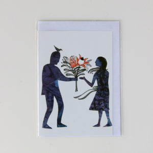 Alida Bothma Card Couple with Flowers