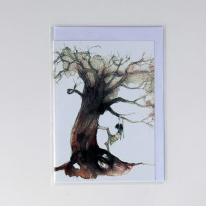 Alida Bothma Card Girl in Tree