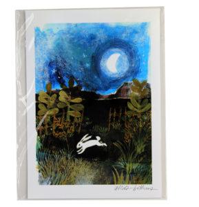 Alida Bothma Print Rabbit in Moonlight