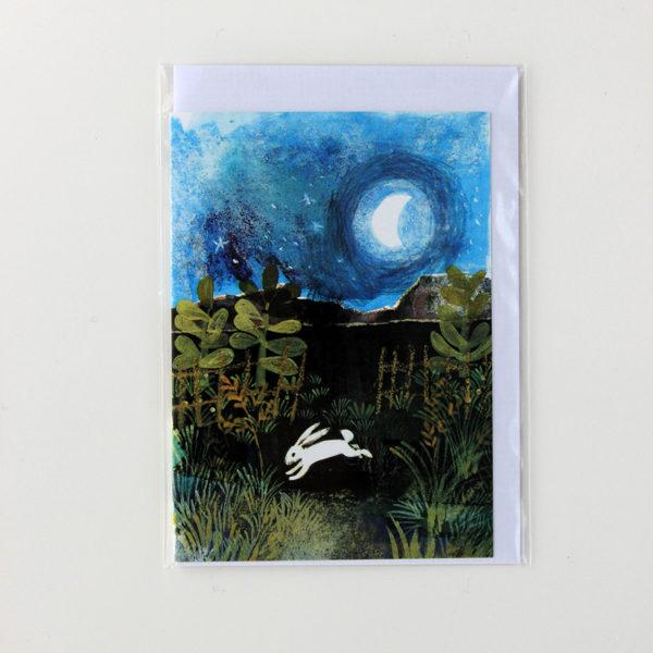 Alida Bothma Card Rabbit in Moonlight