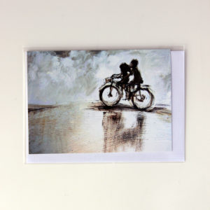 Alida Bothma Card Riding Bycycle