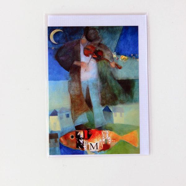 Alida Bothma Card Violin Player