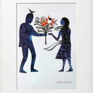 Couple with Flowers – Print
