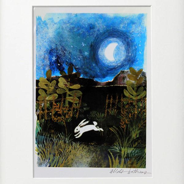 Alida Bothma print Rabbit in Moonlight frame 2