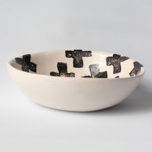 eve art black and white criss cross ceramic bowl (4)