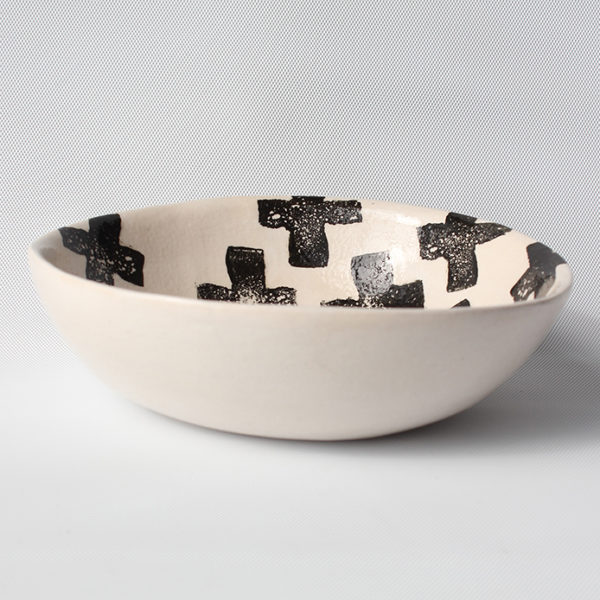 eve art black and white criss cross ceramic bowl (4)