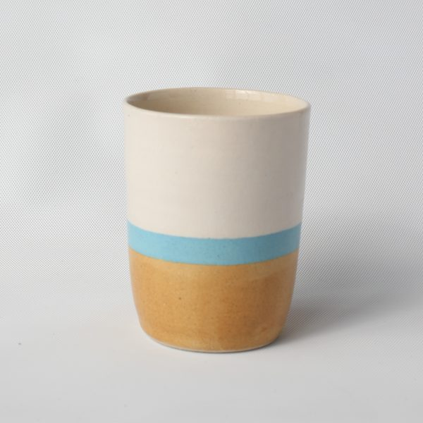 eve art ceramic striped mug blue