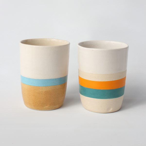 eve art ceramic striped mug set