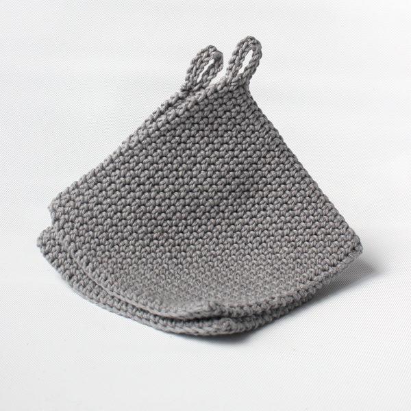 oloyolo crochet pot holders grey