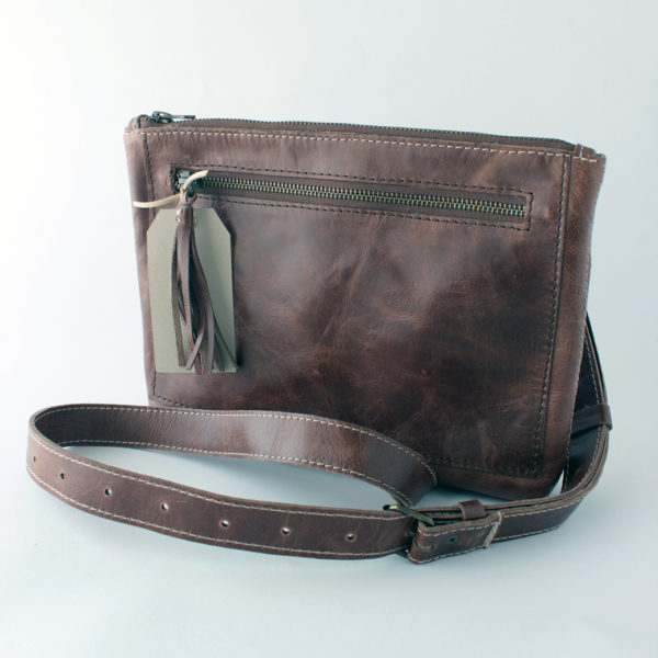 Bokmakierie brown leather bag