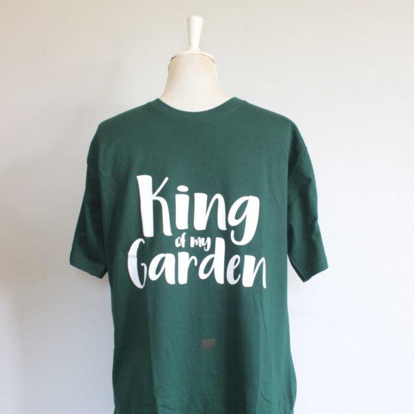 Botanical Workshop king of my garden tshirt