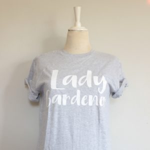 Botanical Workshop lady gardener tshirt
