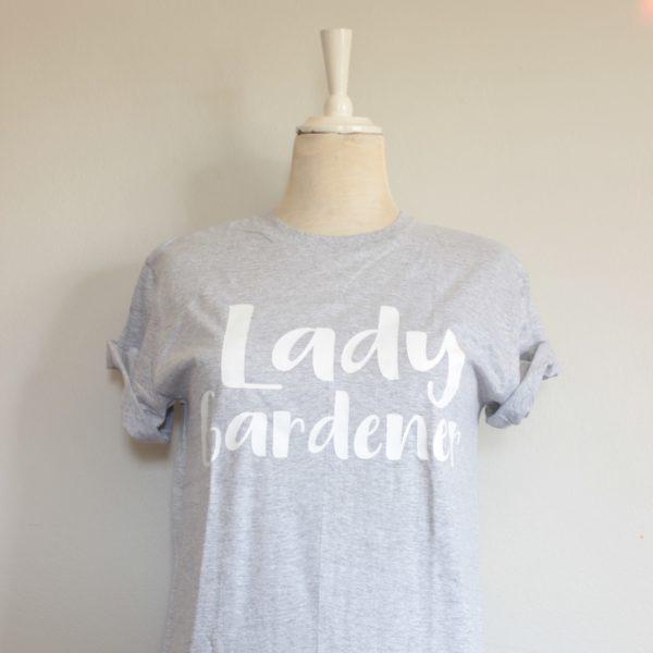 Botanical Workshop lady gardener tshirt