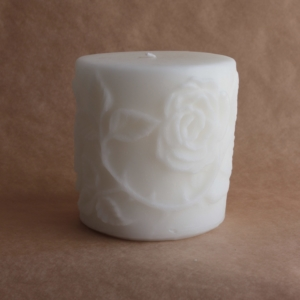 Rose Design Scented Candle Large